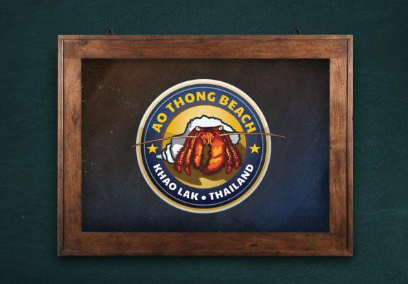 Ao Thong Beach Chalkboard logo