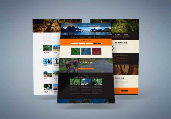 Amazing Bike Tours web layouts